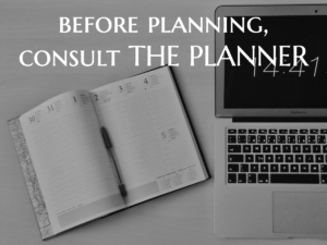 Before Planning, Consult THE PLANNER