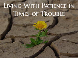 Living with Patience in Times of Trouble