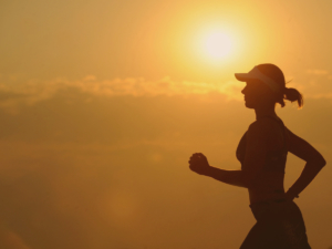 Woman Running with Endurance